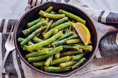 Garlic String Beans - Veggiecurean Transform String Beans Using Garlic and Lemon
