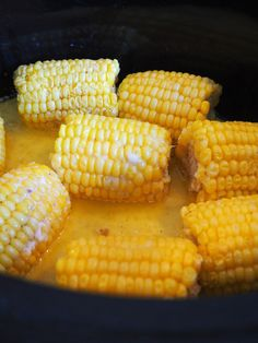 This delicious Mexican Street Corn recipe will become a new family favorite. Tangy, spicy and sweet, it is the ultimate way to eat corn on the cob. Corn Recipes, Crockpot Recipes, Cooking Recipes, Recipies, What's Cooking, Cooking Time, Crockpot Corn On Cob, Oven Roasted Corn, Mexican Street Corn