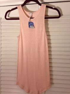Intimately Free People Anthropologie Pink Ribbed Tank Top Xs S NWT Boho Shirt #FreePeople #TankCami