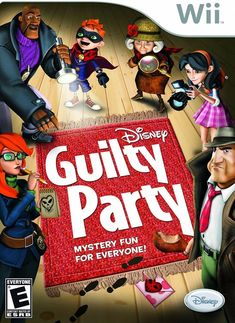 Guilty Party Wii Game, Disney Wii Game, Wii Games For Kids, Wii Family Game, Nintendo Wii Video Game Playstation, Xbox, Ps4, Family Game Night, Family Games, Games For Kids, Kids Fun, Disney Games, Guilin