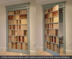 Secret door disguised with a bookcase... want!