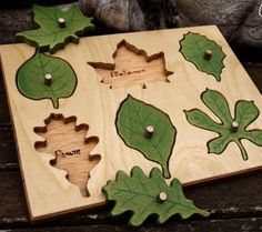Wooden leaf Puzzle for toodlers. Wooden puzzle by Woodthinks Shape Puzzles, Eco Friendly Toys, Montessori Baby, Montessori Bedroom, Blog Deco, Wooden Puzzles, Wooden Jigsaw, Learning Toys, Wood Toys