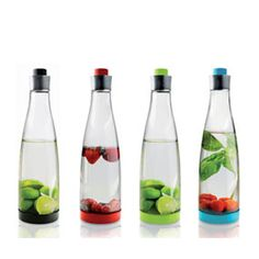 Carafes by Marcus Vagnby that open at the top and bottom so they are easy to fill with fruit or ice.