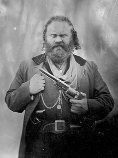 "NOT ""Charles Earl Bowles, better known as Black Bart"". ~ Probably, as Norm Woodhead suggested, just a photo made to look like it's from the 19th cent. I'm keeping it on this board for the info, because this photo is all over Pinterest as the ""real Black Bart"", which if you google him you will see how much this guy doesn't look like him. Thanks Norm Woodhead!"