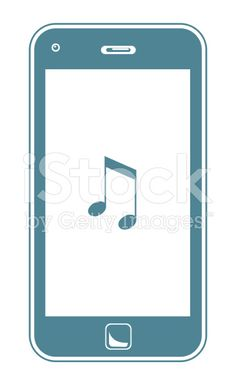 Smart Phone Playing Music royalty-free stock vector art