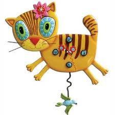 Kimi Kitty clock with a bird pendulum.