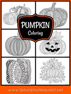 Pumpkin Coloring Pages for Adults or Kids