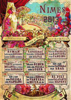 2013 Féria de Nîmes Pentecôte; 10€, 50x70 cm, à vendre sur  http://www.torildartistes.com/store/