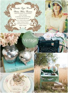 Top 8 Perfect Trending Wedding Invitations with Wedding Themes -Vintage