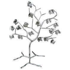 Lovely Tree Design Black Metal Earring Organizer Jewelry Storage