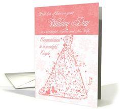 Nephew & New Wife wedding day congratulations card (468777)