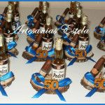 Beer Centerpieces, 50th Birthday Centerpieces, 11th Birthday, Boy Birthday Parties, Baby Birthday, Modelo Beer, Adult Crafts, Party Favors, Souvenir Ideas