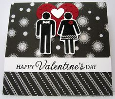 TheGoodTheBadAndTheUglyCrafts.blogspot.com - Black, White and Red Valentines card with Hero Arts