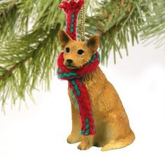 Australian #cattle dog red christmas #ornament #holiday xmas figurine scarf gift,  View more on the LINK: http://www.zeppy.io/product/gb/2/331716141451/