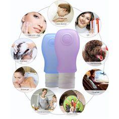 37ml/60ml/89ml Travel Silicone Bottles Shampoo Shower Gel Lotion Sub-bottling Bath Containers LI02