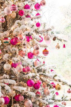 Finally! A Good Pink Christmas Tree   Luella & June