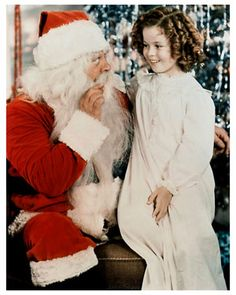 Santa Claus and Shirley Temple