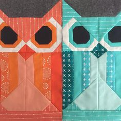 Owls done with a few days to spare before my next #fancyforestquilt block of the month class.