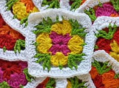 Handicraft Juffie: Granny Daisy - pattern