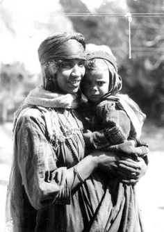 Berber mother with son in Algeria