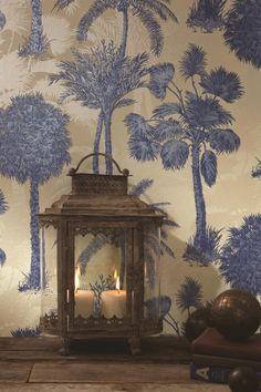 Sophie Conran wallpaper for Arthouse - Coconut Grove Cobalt Interior Wallpaper, Love Wallpaper, Fabric Wallpaper, Designer Wallpaper, Wallpaper Online, Chinoiserie, Moroccan Wallpaper, Sophie Conran, Pub Design