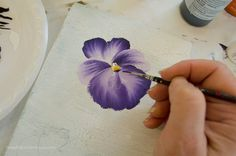 How to Paint a Pansy, FlowerPatchFarmhouse.com