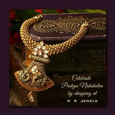 Celebrate the auspicious day of Pushya Nakshatra with K.K.Jewels. Buy gorgeous jewellery and other precious items here and invite good fortune to smile upon you! Visit our store today and be wowed by our fantastic jewellery creations. #KKJewels #Jewellery #Ahmedabad #PushyaNakshatra