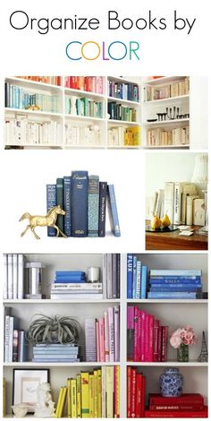 Houseplants for Better Sleep Such An Easy Trick For Styling Your Shelves And Letting Your Favorite Home Decor Objects Really Shine- - Organize Your Books By Color Here's A Few Photos For Inspiration To Get You Started. Bookshelf Styling, Book Organization, Home Staging, Coastal Decor, Home Decor Accessories, Home Decor Inspiration, Decoration, Home And Living, Sweet Home