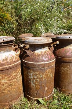Rusty Antique MILK CAN primitive, Home and Garden Decor, Fresh out of the Old Dairy Barn, Rustic Perfection, Sturdy Country Yard Art