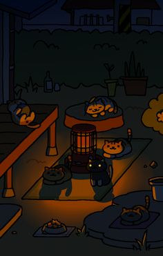They are summoning a demon. Probably Tubbs.
