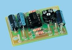 Universal Mono Preamplifier using 741 KIT Electronic Circuit Design, Audio Amplifier, Listening To Music, Landline Phone, Fuzz, Physics, Kit, Crafts, Log Projects