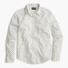 Perfect shirt in poplin dot : casual shirts   J.Crew