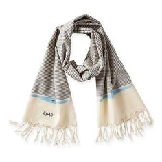 Mark & Graham Lucia Lightweight Scarf ($49) ❤ liked on Polyvore featuring accessories, scarves, cotton shawl, striped shawl, cotton scarves, striped scarves and light weight scarves