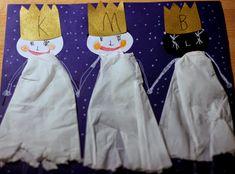 My tři králové . Art For Kids, Crafts For Kids, Kindergarten, Winter Art, Xmas, Christmas, Advent, Children, Yule