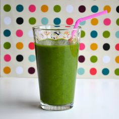 Green Smoothie - this basic recipe is non-dairy and made only with vegetables and fruits.  The perfect way to start a healthy day.