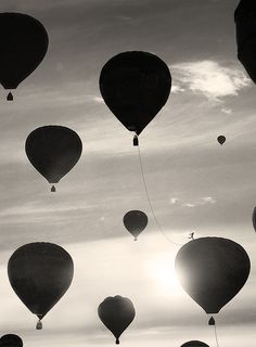 hot air balloon silhouettes