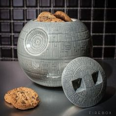 Death Star cookie jar.  Fill it with his favorite treats!