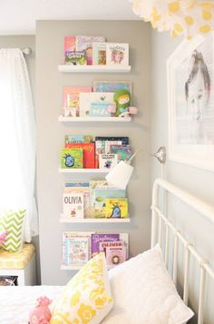 Shelves in kids bedroom
