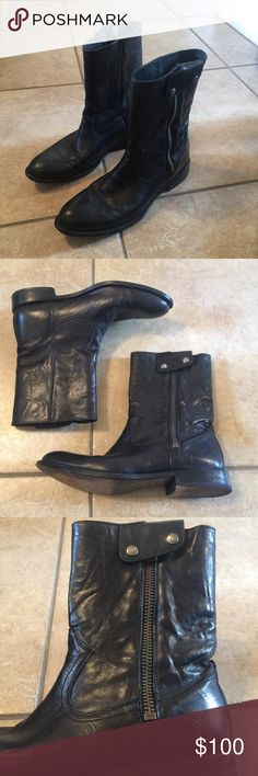 FRYE men's Black Jayden Outside Zip Boots shoes 12 FRYE men's Black Jayden Outside Zip Boots in Great condition ! Size 12 .  If you have any questions feel free to ask! Frye Shoes Boots