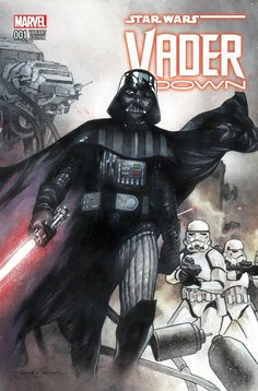 Geek Fuel Bonus Marvel Star Wars Vader Down Comic , Decal Sticker & Eraser Star Wars Comic Books, Star Wars Comics, Comic Books Art, Comic Art, Marvel Comics, Vader Star Wars, Darth Vader, Star Trek, Mike Deodato Jr