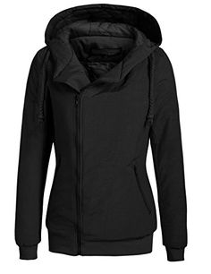 Baguet Women Winter Zip Up Waterproof Hooded Quilted Bomber Jacket Outwear -- You can get more details by clicking on the image. (This is an affiliate link)