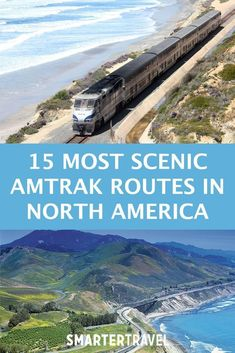 The 15 Most Scenic Amtrak Routes in North America While Switzerland is considered by many to be the world champion when it comes to scenic train trips and there are glass-dome travel trains Amtrak Train Travel, Scenic Train Rides, Train Route, By Train, Top Travel Destinations, Places To Travel, Travel Tips, Budget Travel, Time Travel