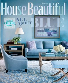 March 2010 cover. Design: Tobi Fairley. housebeautiful.com.