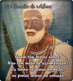 Pretos velhos são entidades de umbanda , espíritos que se apresentam em corpo fluídico de velhos africanos que viveram nas senza...