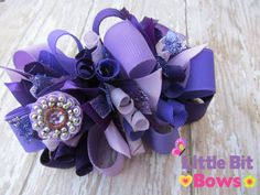 Just Purples Boutique Funky Bow by littlebitbows on Etsy