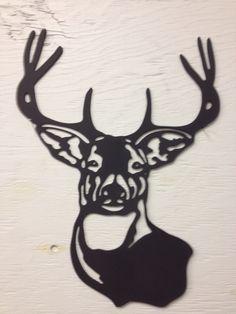Buck Head - Steel, deer silhouette, hunting, metal art, metal sign, country, western, cabin