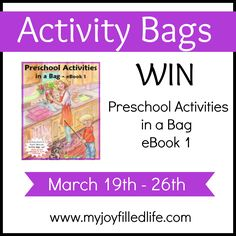 Activity Bags - Preschool Activities in a Bag eBook {Blog Birthday Giveaway} - My Joy-Filled Life