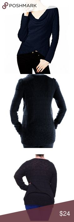 NWT Inc Cowl Neck Crossover Sweater Deep Black ⭐️⭐️New With Tags⭐️Next Day Ship⭐️⭐️ 🔥🔥FREE SHIPPING on bundles $50➕🔥🔥   * Cowl neckline * Long sleeve * Crossover front * 90%Cotton 10%Viscose * Retail: $69 INC International Concepts Sweaters Cowl & Turtlenecks