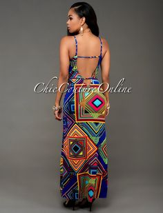 Chic Couture Online - Mecca Blue Multi-Color Print Slit Maxi Dress. (http://www.chiccoutureonline.com/mecca-blue-multi-color-print-slit-maxi-dress/)