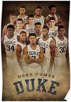 Duke basketball Poster Basketball Tricks, Basketball Posters, Basketball Pictures, Team Pictures, Duke Basketball, Team Photos, Sports Photos, Duke Bball, College Basketball